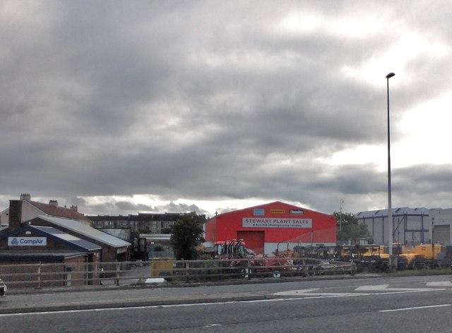 Commercial premises alongside the M8