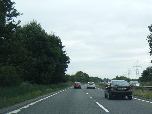 A38 northbound near Freeford Farm