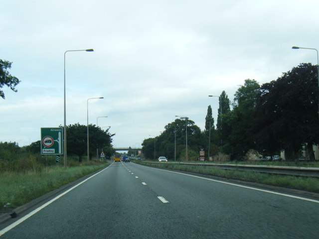 A38 northbound nears Fradley