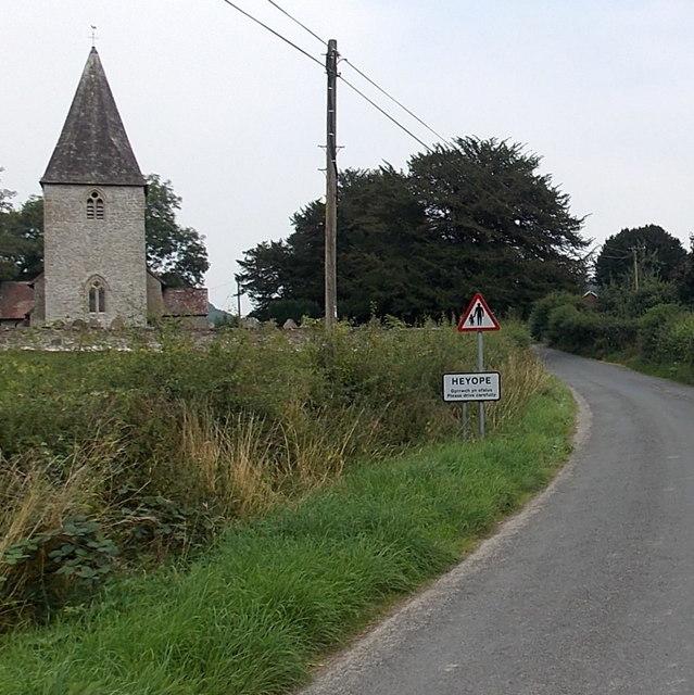 Western boundary of Heyope