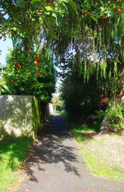 Footpath off Captain's Pool Road, Spennells, Kidderminster
