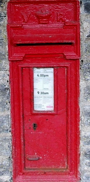 Victorian postbox in Heyope