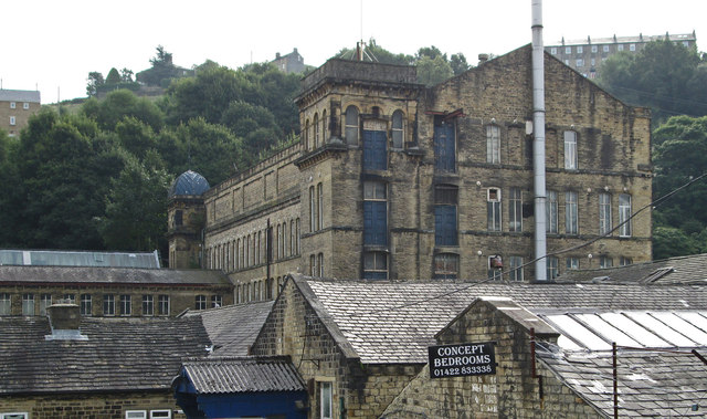 Sowerby Bridge - Asquith Bottom Mill from western entrance road