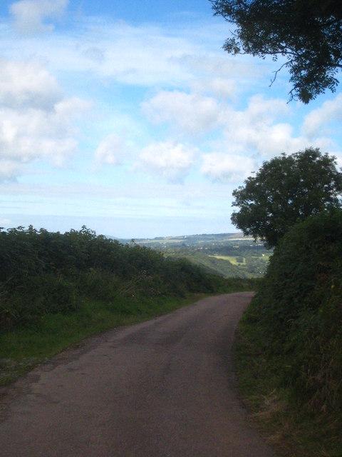 Minor road leading to Gawton Farm