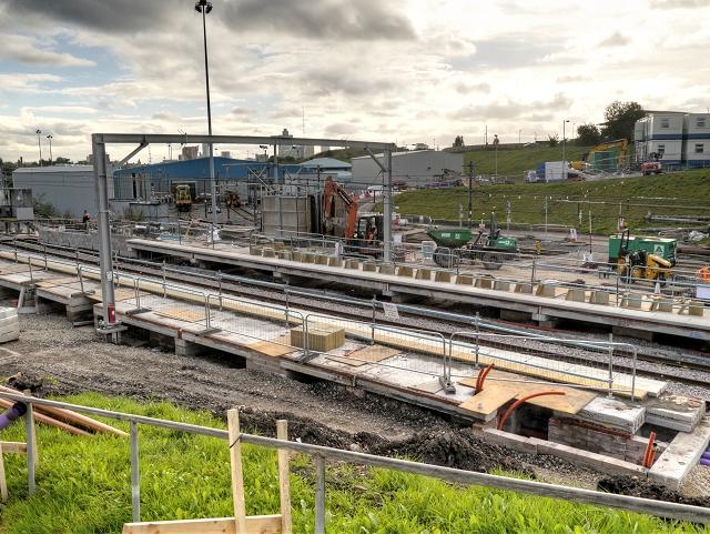 Metrolink Construction at Queens Road