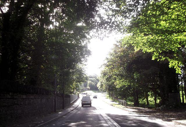 Llandegai Road from Porth Penrhyn turning