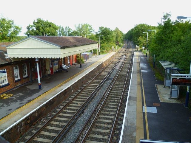 The railway at Bentley