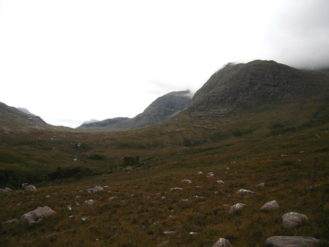 Moorland on the slopes of Beinn Damh