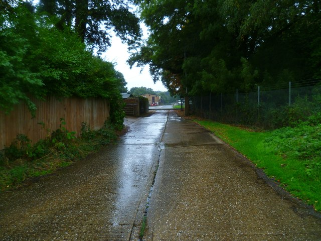 Access road to sewage works