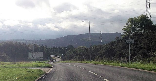 A5 approaching A55 junction