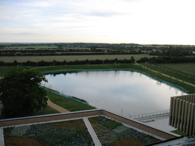 The lake on the West Cambridge site