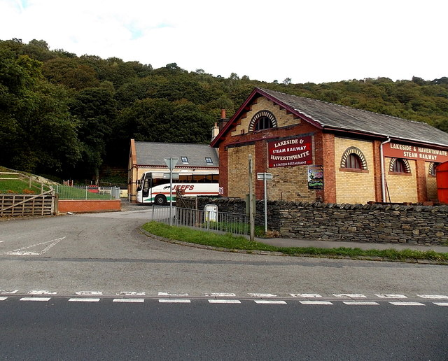 Entrance to Haverthwaite railway station