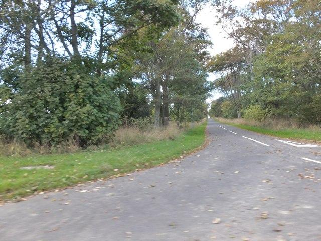 Minor road to Shortridge Hall