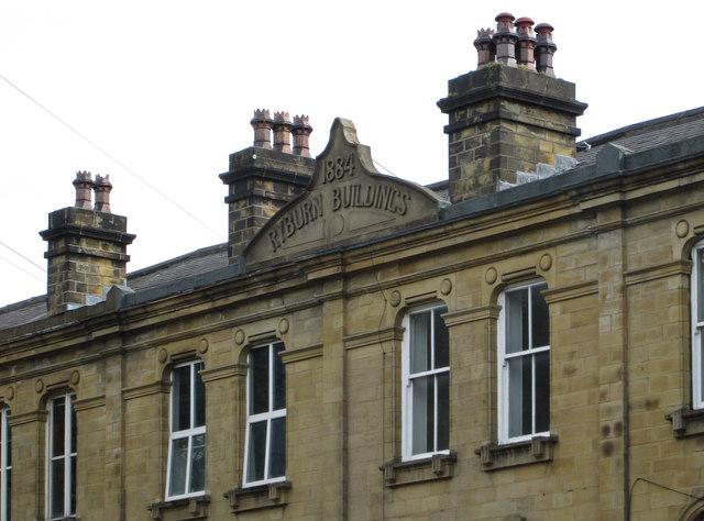 Sowerby Bridge - Ryburn Buildings - date stone