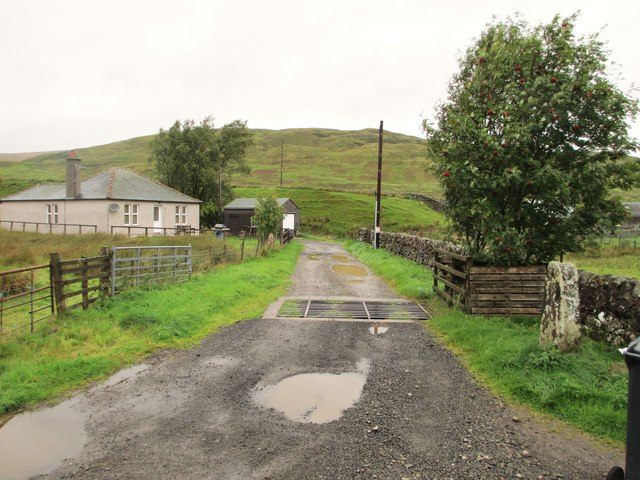 The track to Locherben
