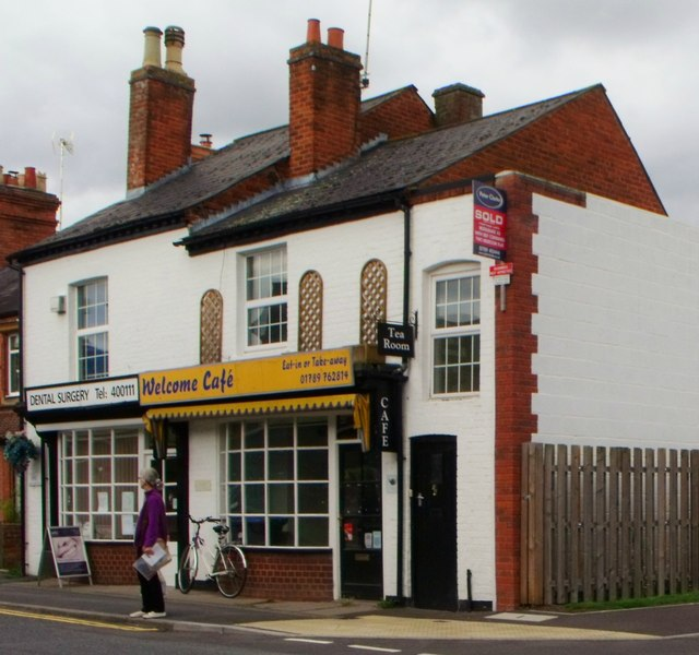 Cafe and dentist, Alcester