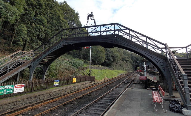 Haverthwaite railway station footbridge