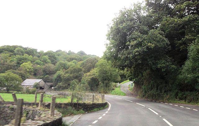 A498 approaching Portreuddyn