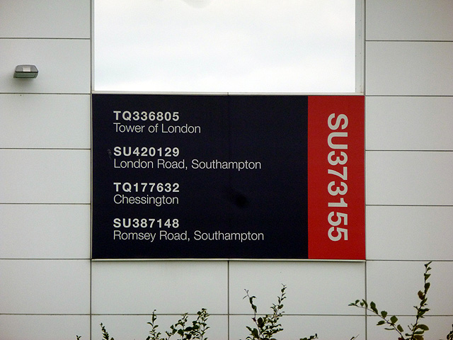 Grid references of previous Ordnance Survey HQ locations