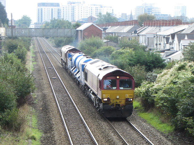 Rail-head Treatment Train in Cardiff