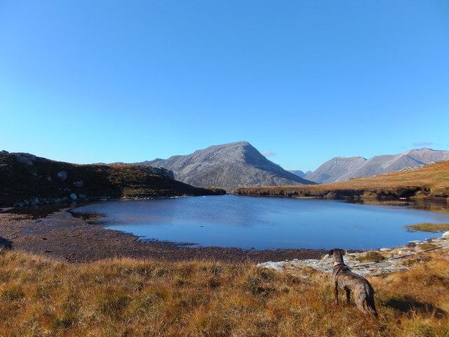Lochan below the top of Meall an Leathaid Mhoir