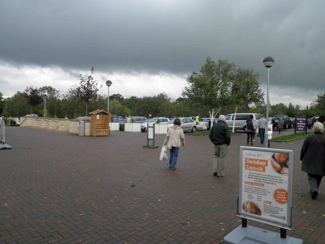Leaving the main store at Webbs of Wychbold garden centre