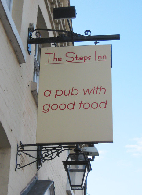 The Steps Inn (2) - sign, 18 Gilgal, Stourport-on-Severn
