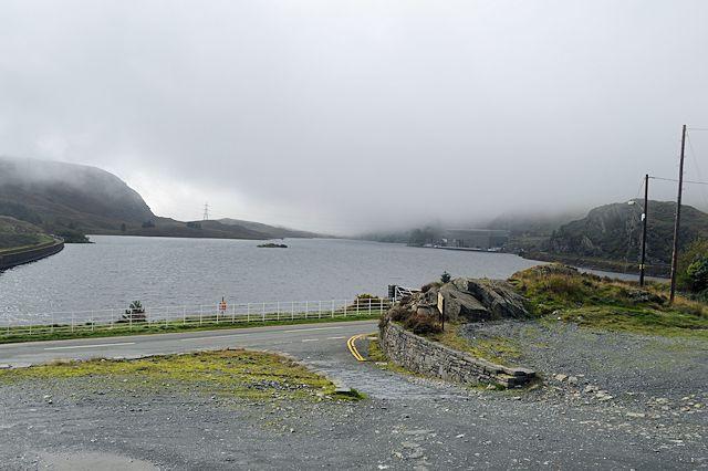 Low cloud over Tan-y-Grisiau reservoir