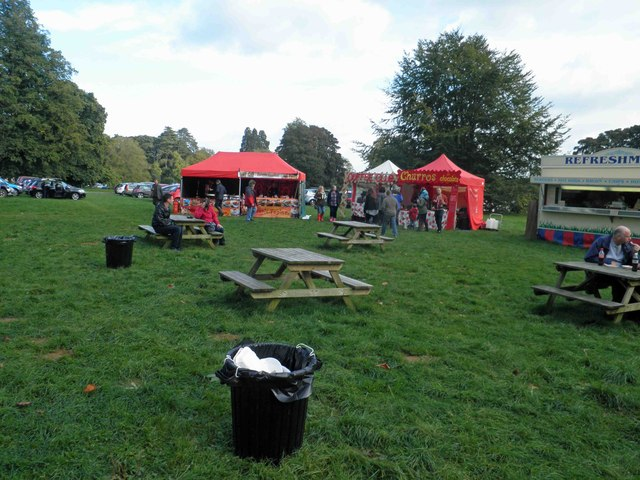 One of the picnic areas at Westonbirt arboretum