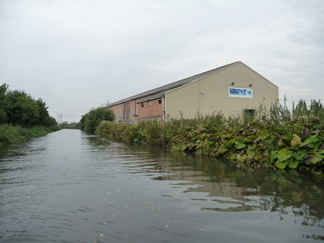 The premises of MJF, on the canal's north bank