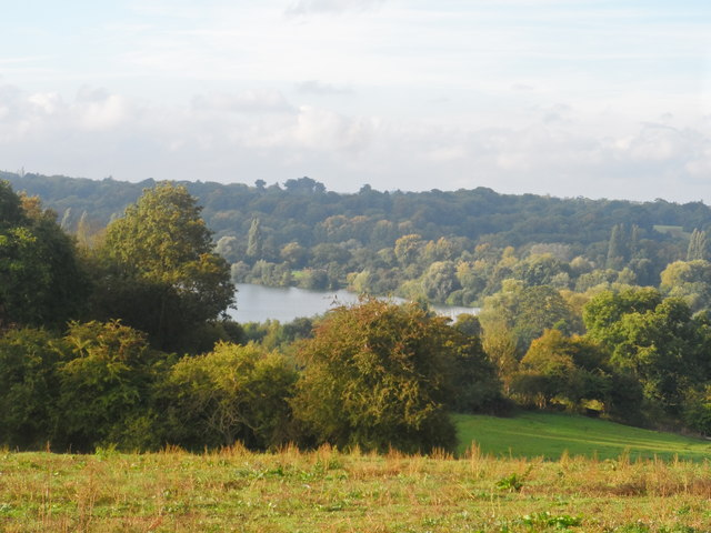 Broad Water Lake from road to West Hyde