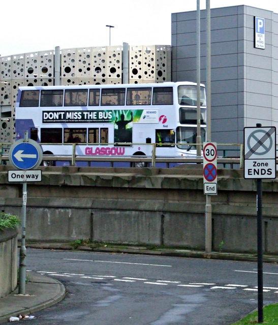 A bus on the Clydeside Expressway