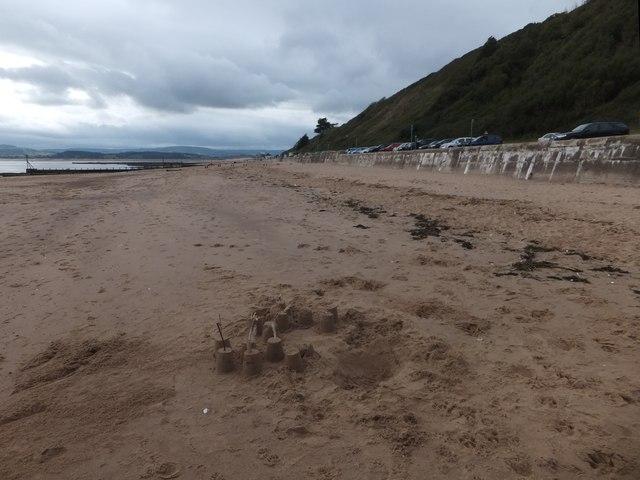 Sand castles on Exmouth beach