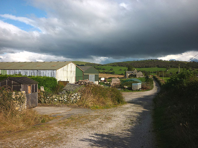 Track past Templand Farm