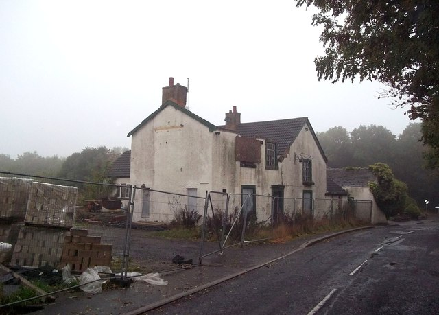 Pub Under Demolition in Pilley