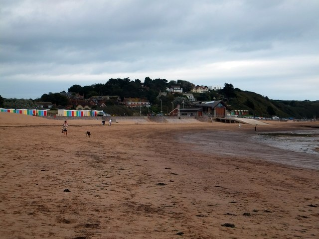 Exmouth lifeboat station and beach