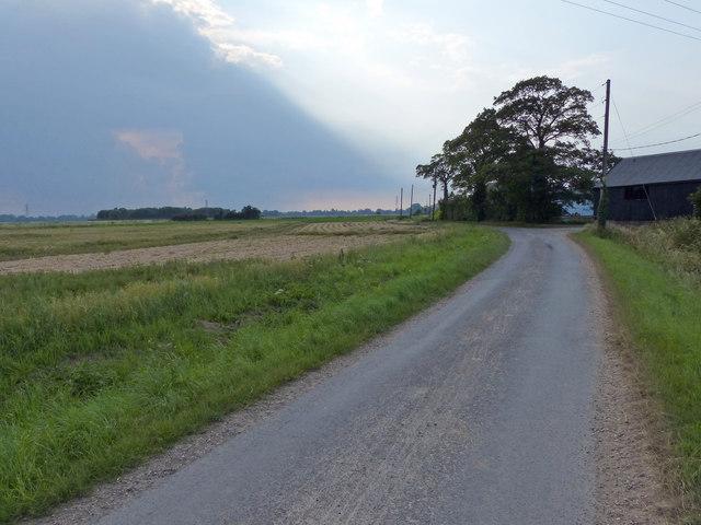 Sandholme Lane near Manor Farm