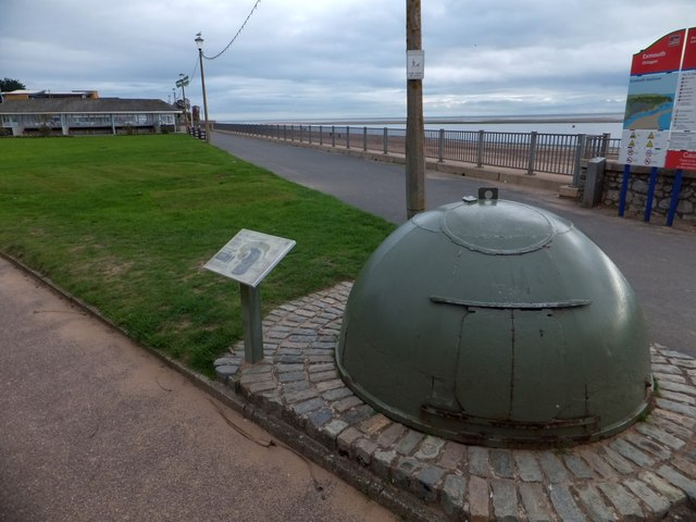 On Exmouth seafront, WW2 defences