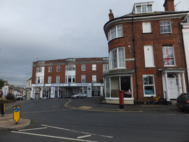 Beacon Hill and Bentley's Garage, Exmouth