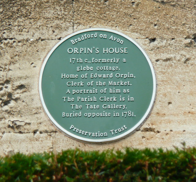 Blue plaque on Orpin's House