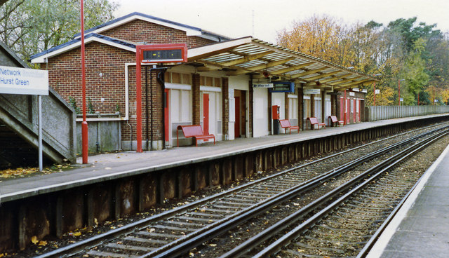 Hurst Green station, 1992