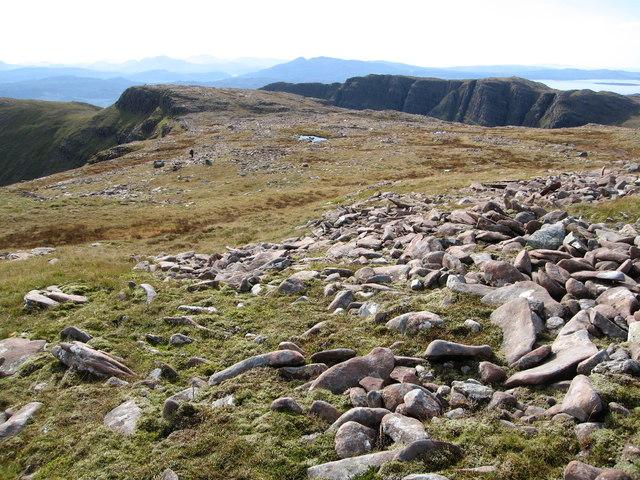 High level moorland beside Sgùrr a' Chaorachain