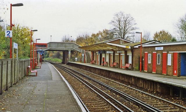 Hurst Green station, 1992
