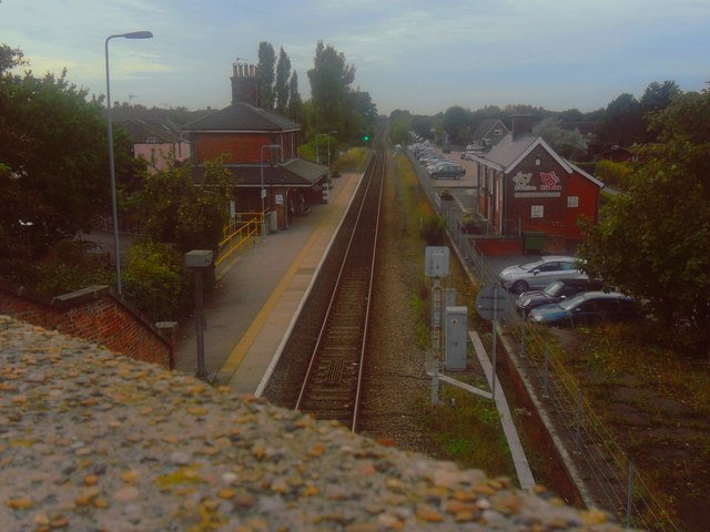 Overlooking Oulton Broad South Railway Station