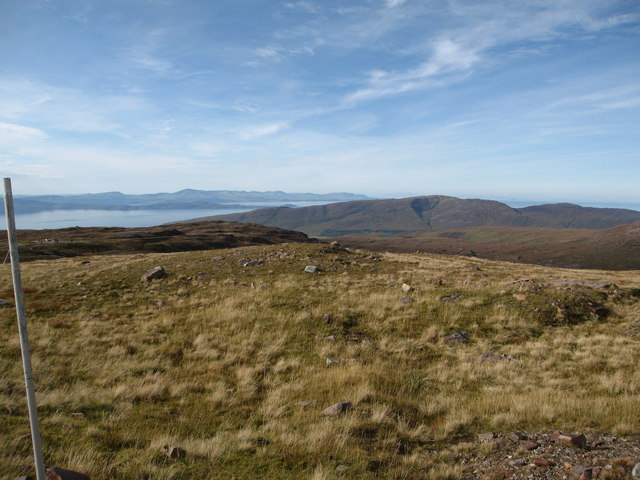 Open moorland with a view towards the Applecross Valley
