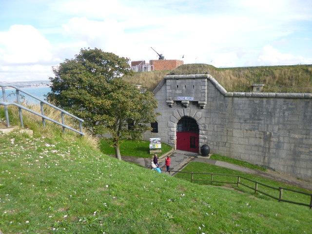 Nothe Fort, entrance
