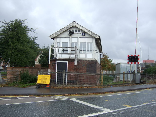 Signal box on Winsover Road, Spalding