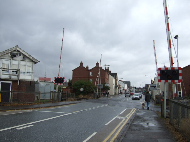 Level crossing on Winsover Road, Spalding