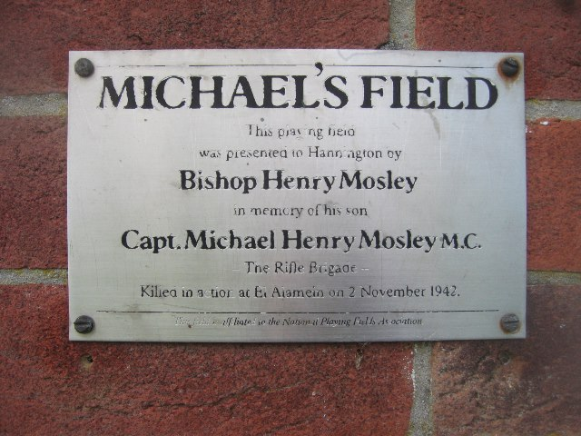 Plaque on pavilion