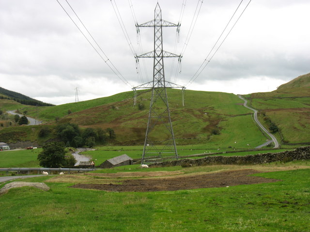 New power lines in Borrowdale